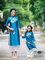 Tư vấn áo dài đôi của Moon Xinh cho mẹ và con