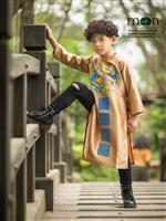Áo dài cho bé trai bán chạy nhất hè 2018 của Moon Xinh