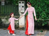 Mua quà sinh nhật cho con gái yêu - áo dài đôi của Moon Xinh