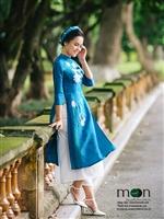 Đẹp rạng ngời với áo dài lụa Hà Đông hot nhất hè 2018