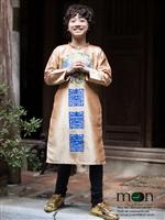 Diện áo dài tết đẹp như Gia Khiêm và Bảo An với áo dài vẽ của Moon Xinh