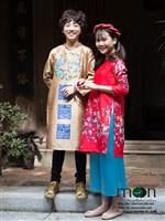 10 mẫu áo dài trẻ em hot nhất tết Mậu tuất 2018 của Moon Xinh