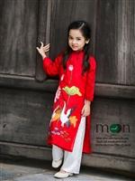 10 mẫu áo dài trẻ em đẹp nhất thu đông 2017 của Moon Xinh Shop