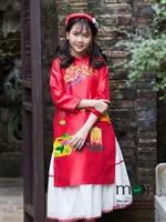 Cho con yêu diện áo dài cho bé gái của Vietnam Silk tết nguyên đán nhé