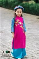 Gợi ý áo dài cho bé gái trong dịp Tết nguyên đán 2018