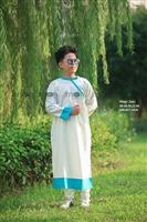 Áo dài vẽ cho bé trai vải thô cotton mùa hạ ở Moon Xinh