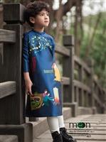 Chọn áo dài truyền thống cho bé trai diện tết Mậu Tuất 2018