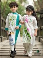 Xinh xắn như những công chúa hoàng tử nhỏ với áo dài cho bé của Moon Xinh