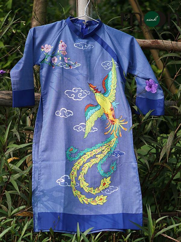 Áo dài vẽ cho bé trai tại Moon Xinh