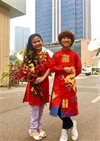 Mua áo dài vẽ cho bé tại Huyện ứng Hoà