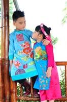 Mua áo dài vẽ cho bé tại Huyện Thường Tín
