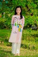 Lưu lại những mẫu áo dài đôi cho mẹ và con gái nhé ^^