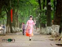 Bé Kim Anh The Voice Kids duyên dáng với áo dài Moon Xinh