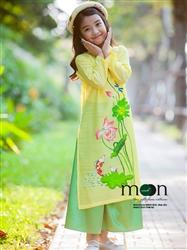 Áo dài vẽ cho bé gái MX.180