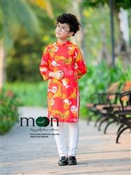 Áo dài cho bé trai gấm Thượng Hải MX.186