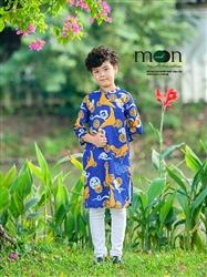 Áo dài cho bé trai gâm Thượng Hải MX.187