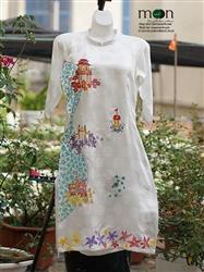 Áo dài truyền thống cho bé gái MX.140