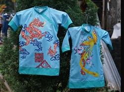 Áo dài Tết đôi cho bé trai và bé gái MX.132
