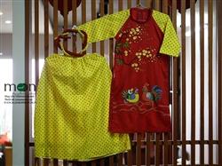 Áo dài truyền thống cho bé gái MX.139