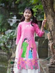 Áo dài vẽ cho bé gái MX.170