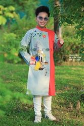 Áo dài vẽ bé trai Quê hương yêu dấu MX.218