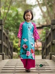 Áo dài cho bé gái MX.157