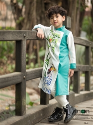 Áo dài vẽ cho bé trai MX.155