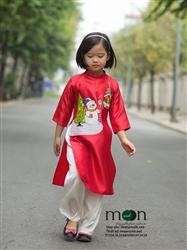 Áo dài cho bé gái MX.160