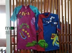 Áo dài Tết đôi cho bé trai và bé gái MX.130