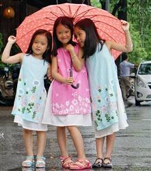 Áo dài cách tân cho bé gái MH03 (May đo)
