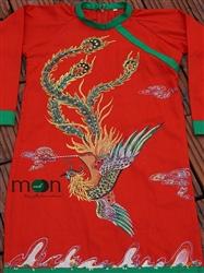 Áo dài trẻ em vẽ Phượng Hoàng cho bé trai