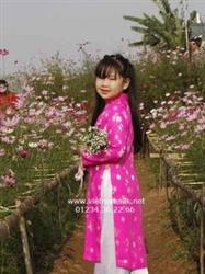 Áo dài cho bé gái gấm Thái Tuấn-GTT1-Màu đỏ đồng xu